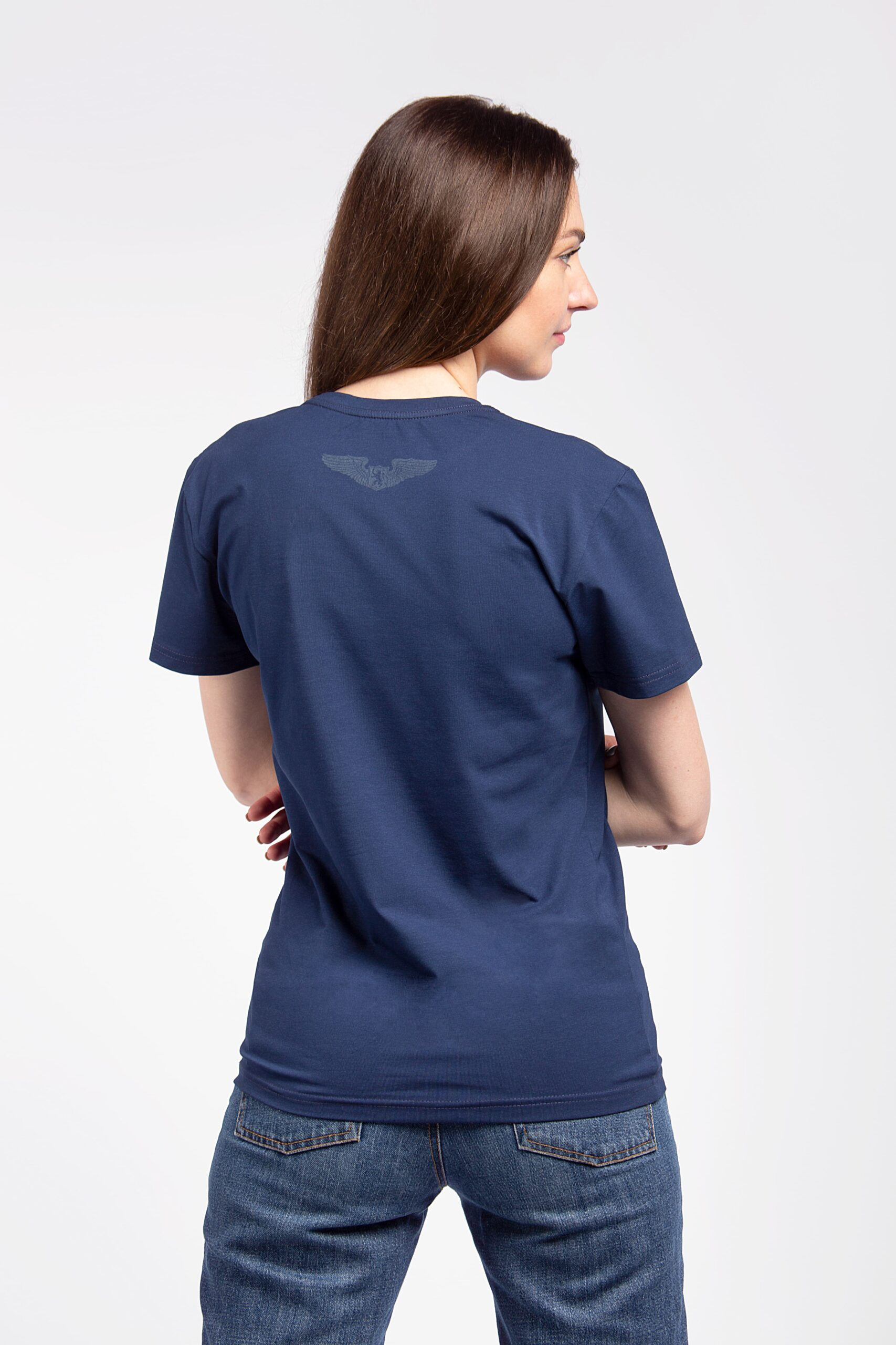 Women's T-Shirt An. The Greatest Hits. Color navy blue.  Material: 95% cotton, 5% spandex.