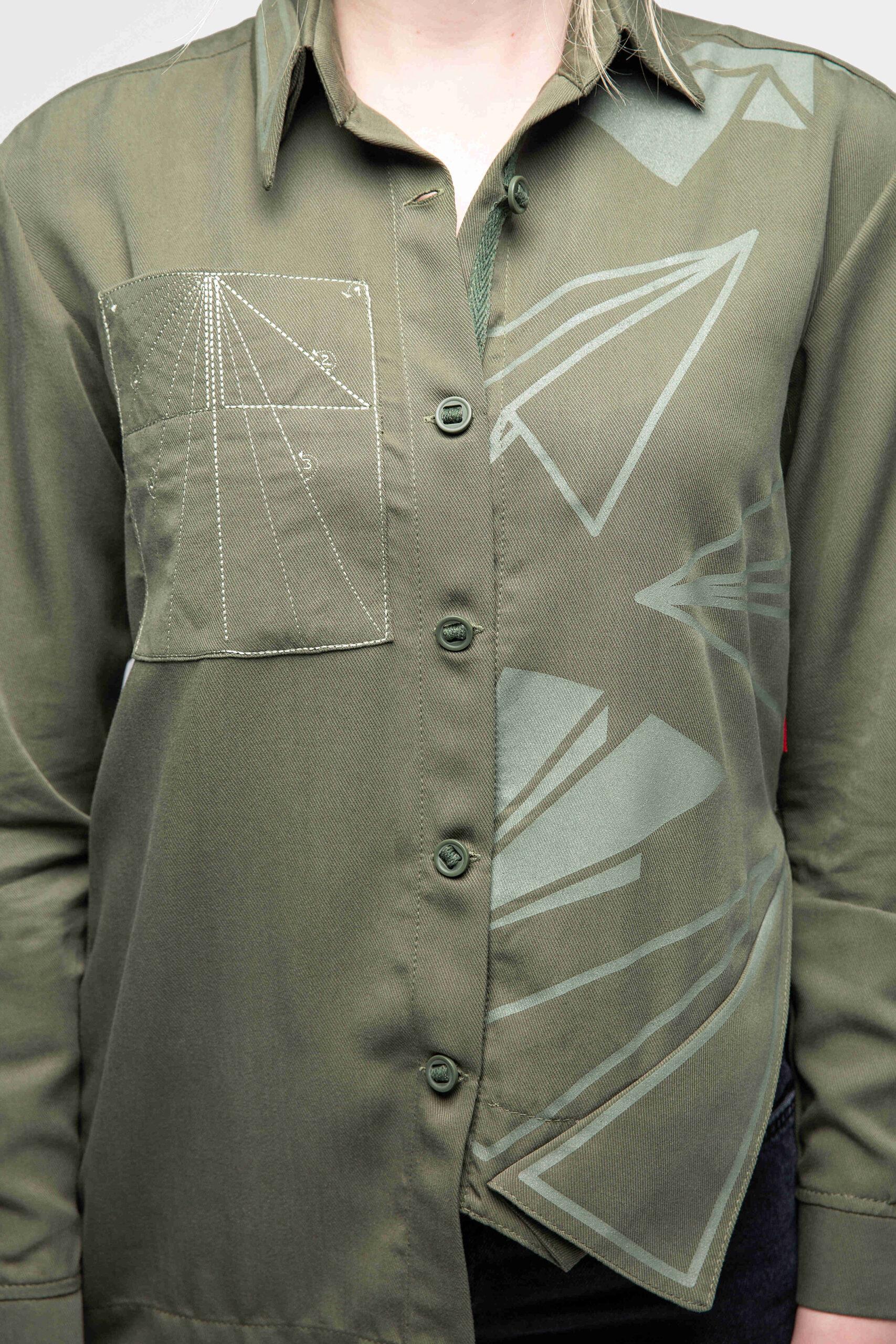 Women's Shirt Paper Wings. Color khaki. 6.