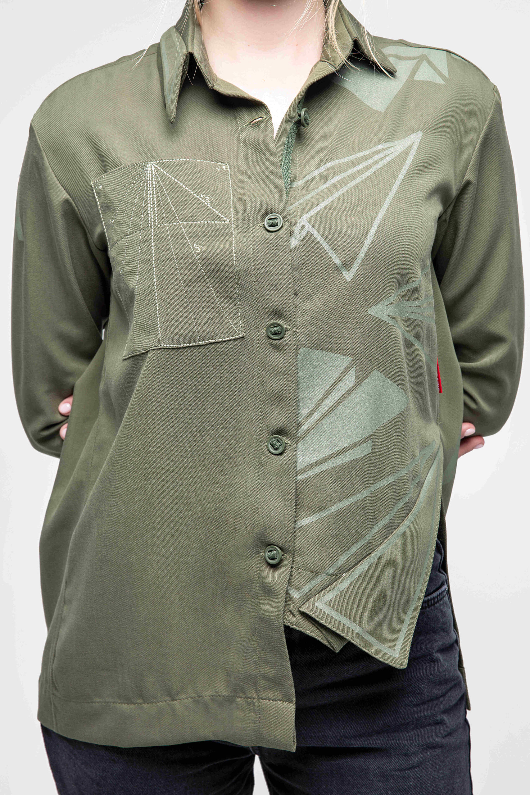 Women's Shirt Paper Wings. Color khaki. 7.