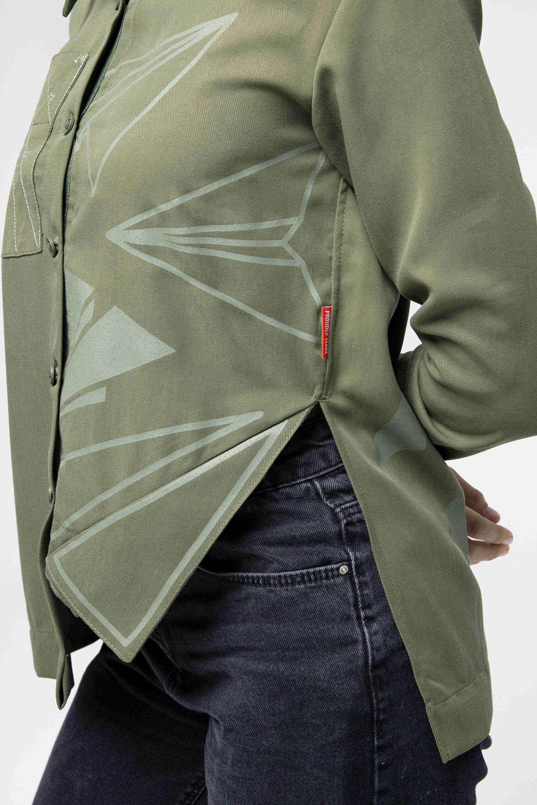 Women's Shirt Paper Wings. Color khaki. 8.