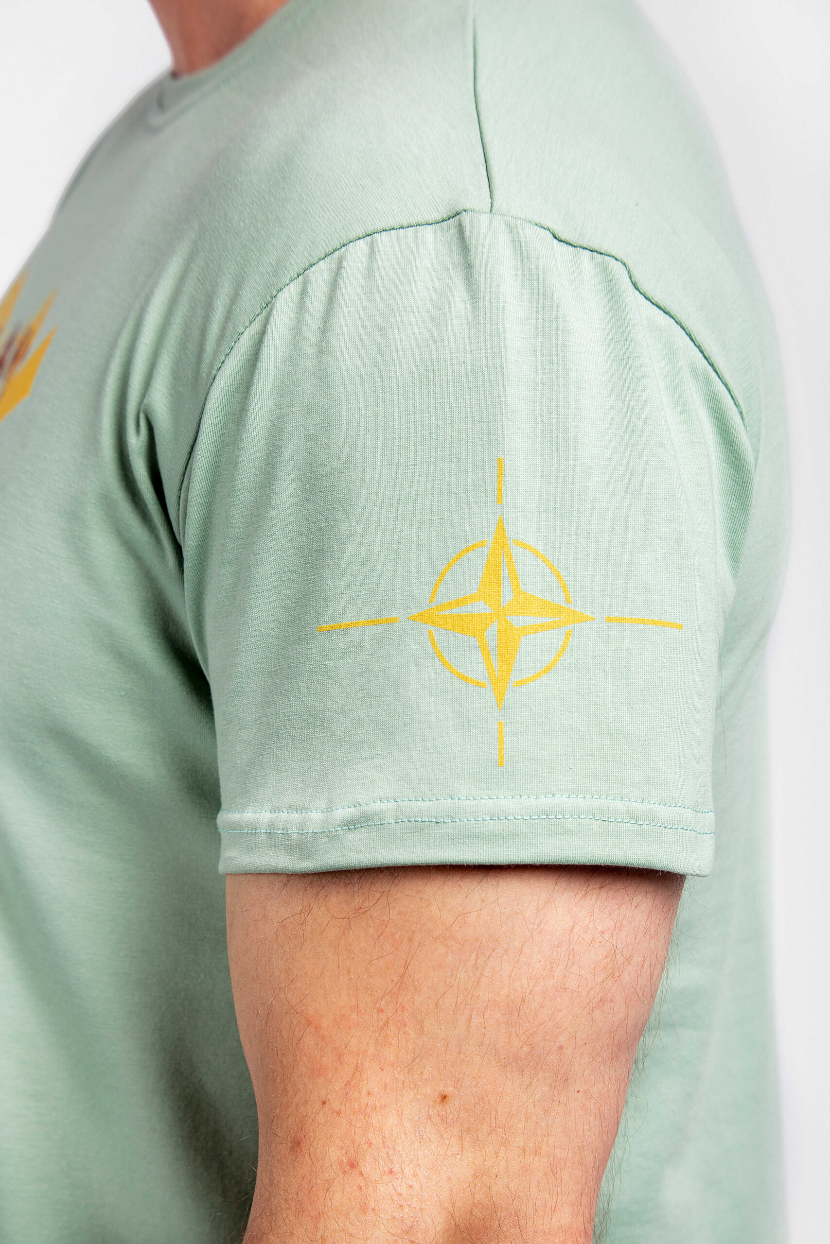 Men's T-Shirt Defenders Of The Sea. Color mint.  Size worn by the model: L.