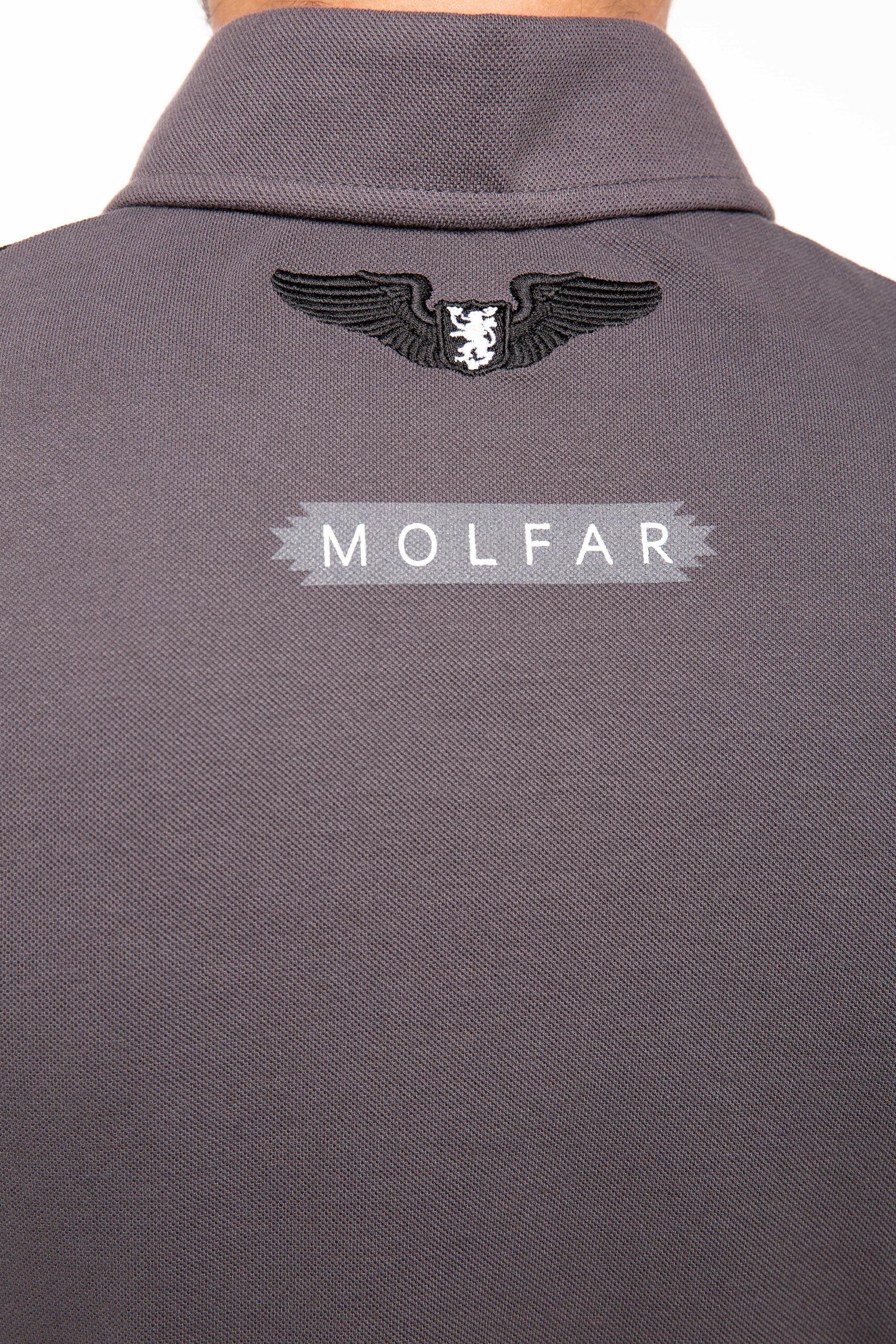 Чоловіче Поло Друга Експедиція Мольфарів. Колір темно-сірий.  Це поло є частиною фемілі луку —