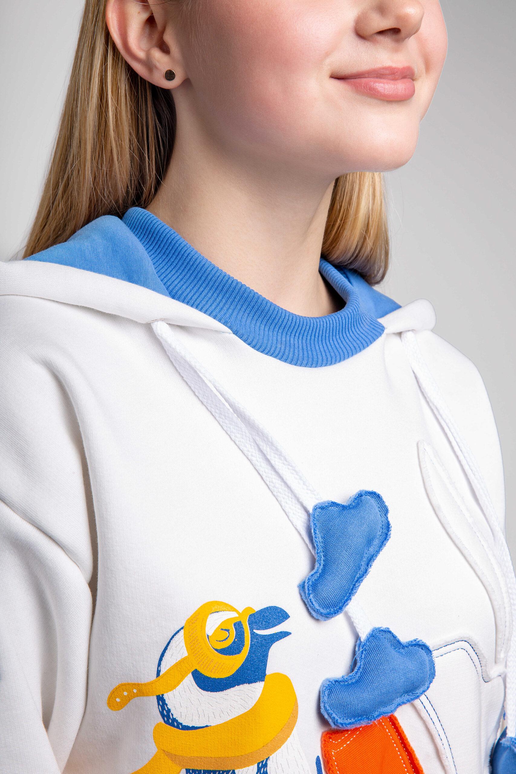 Жіноче Худі Пінгвін. Color white. 9.