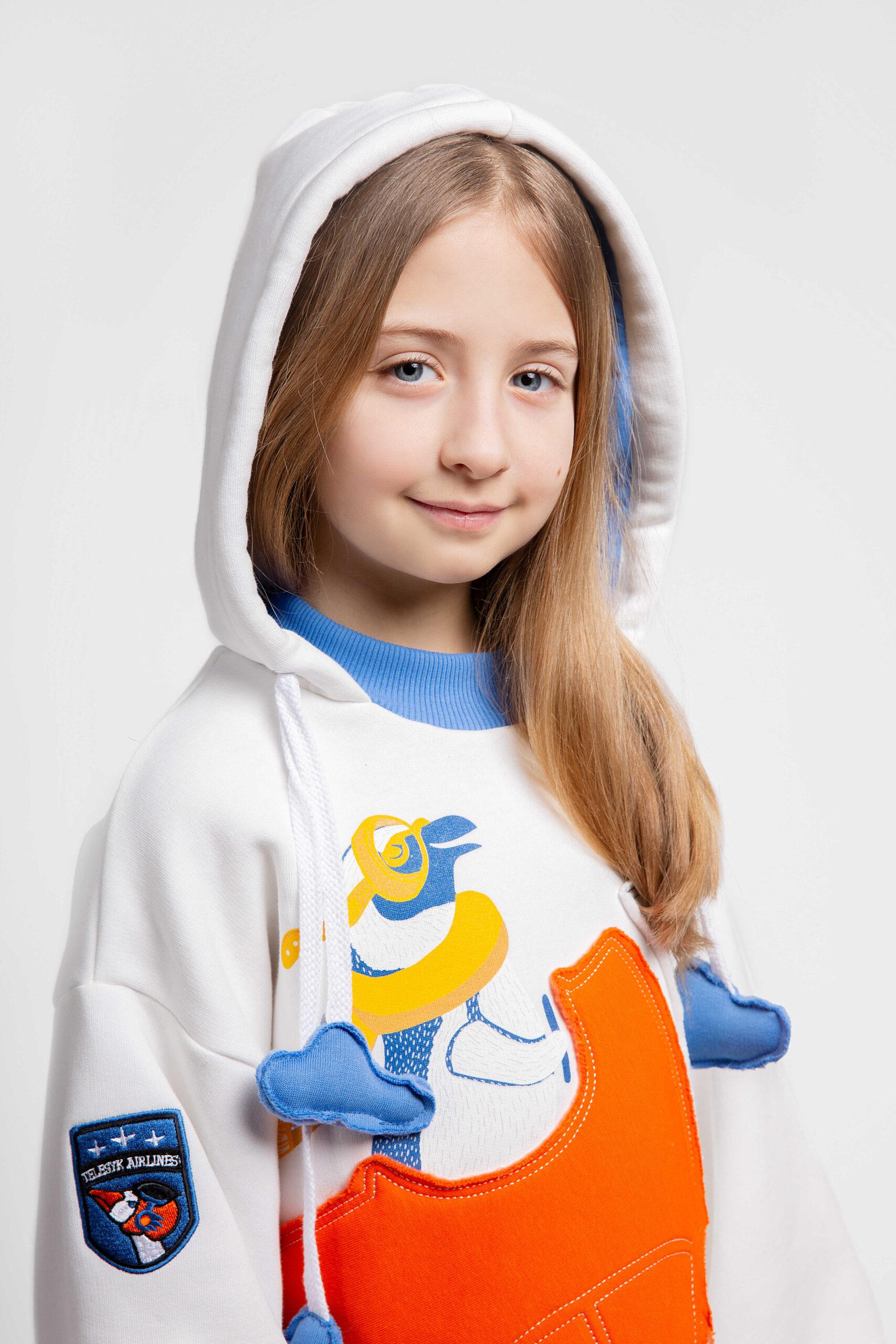 Дитяче Худі Пінгвін. Color white.  Відтінки кольорів на вашому екрані можуть відрізнятися від кольору оригіналу.