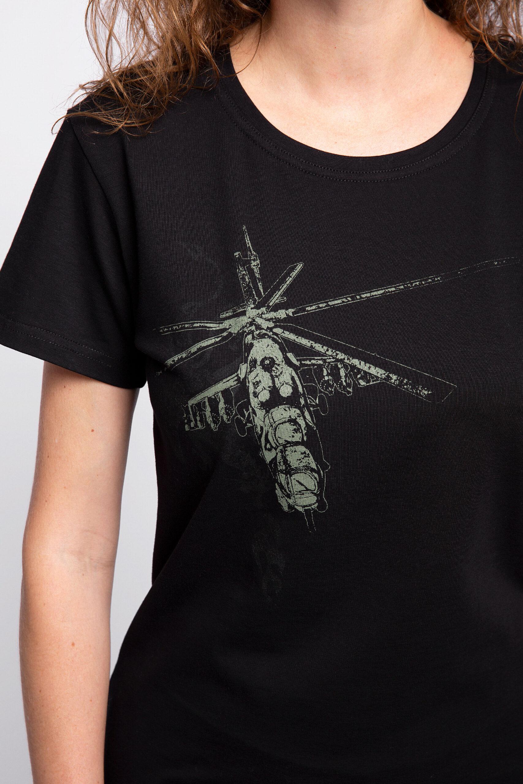 Жіноча Футболка Вогонь Запеклих 3.0. Колір чорний.  На жіночій фігурі футболка виглядає просто чудово!  Матеріал: 95% бавовна, 5% спандекс.