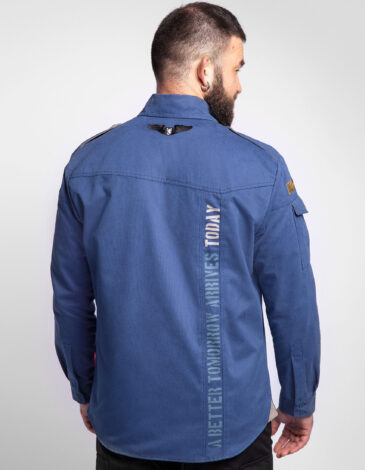 Men's Shirt Sikorsky. Color denim. Material: 100% cotton.