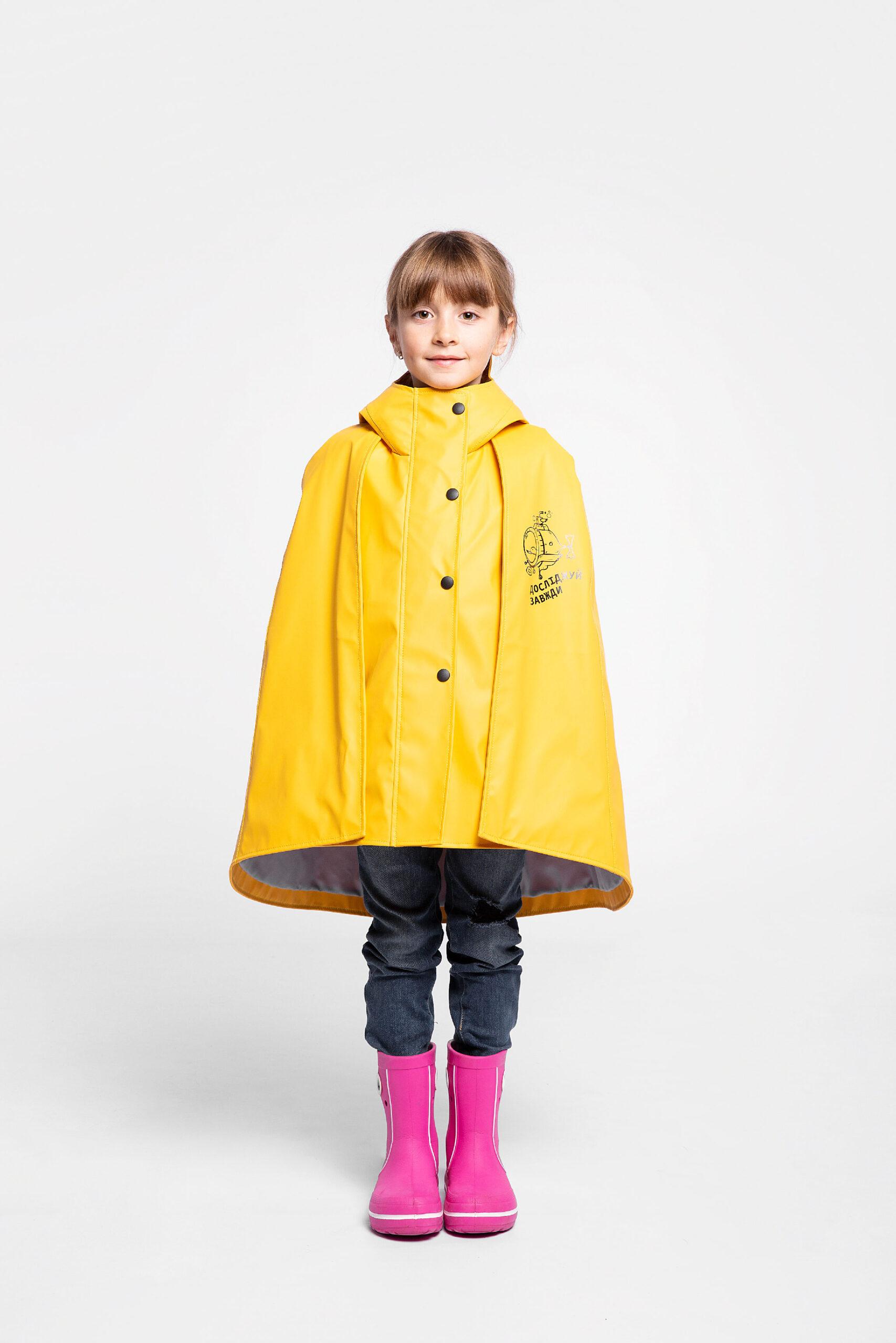 Дитячий Дощовик-Пончо Гідроплан. Колір жовтий. Товар можнапридбати з розтермінуванням оплатна 3 місяці.