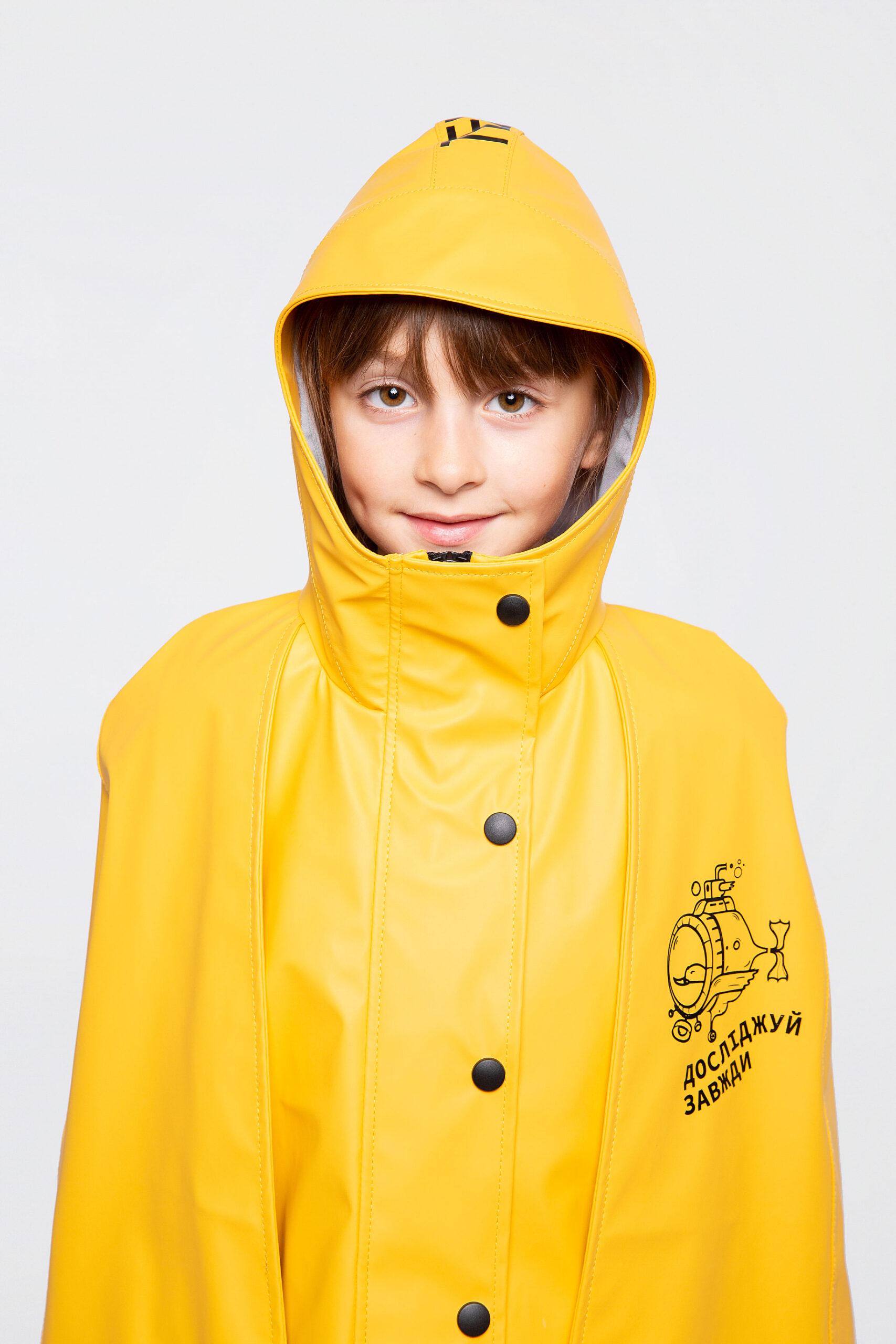 Дитячий Дощовик-Пончо Гідроплан. Колір жовтий. .