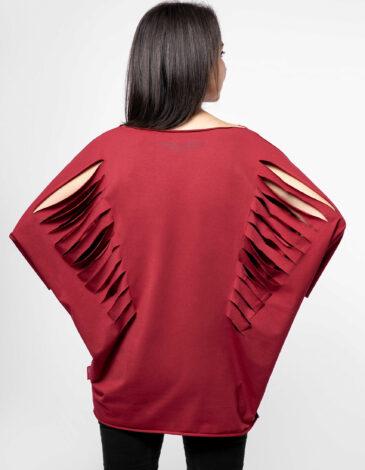 Women's T-Shirt Unrestrainable In Spirit. Color claret. Material: 95% cotton, 5% spandex.