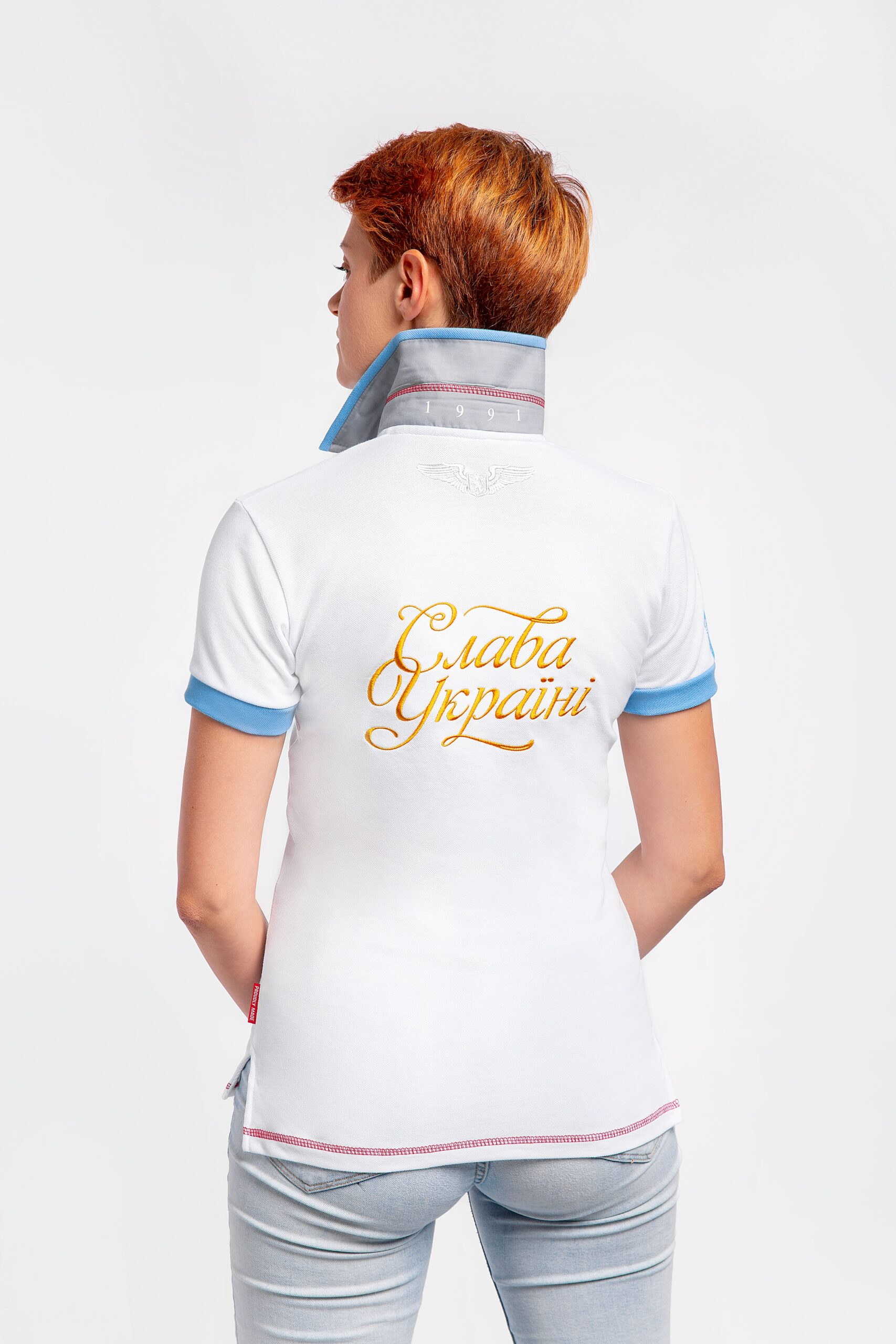 Women'S Polo 30 Years Of Independence. Color white.  Size worn by the model: XS.