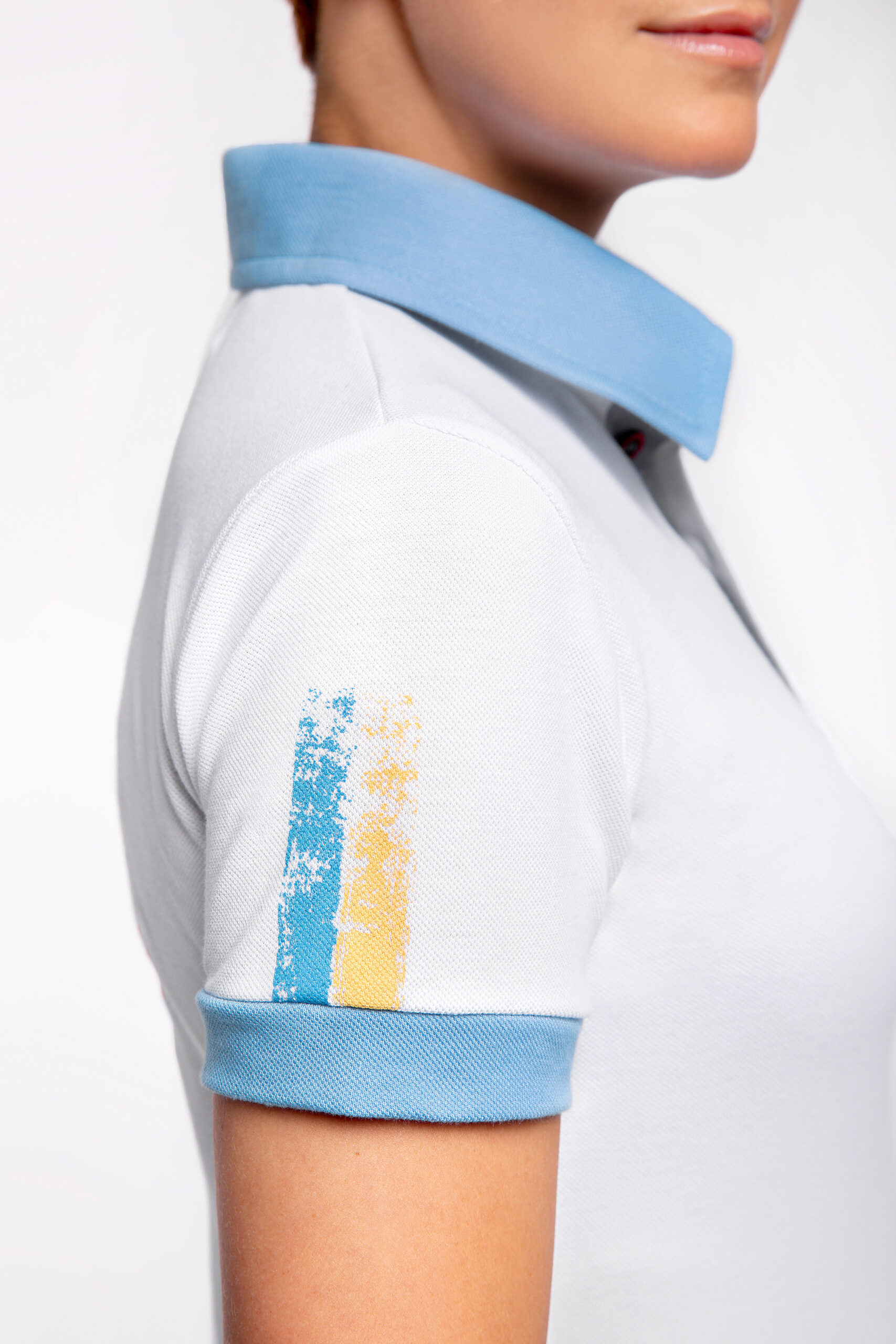 Women'S Polo 30 Years Of Independence. Color white.  .